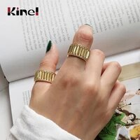 kinel authentic korea bijoux 100 925 sterling silver 14k gold rings for women ins wedding engagement jewelry
