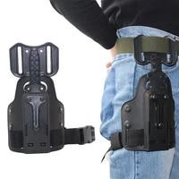 tactical leg gun holster platform for safa glock 17 19 beretta m9 1911 sig p226 adjustable pistol holster addpter hunting paddle