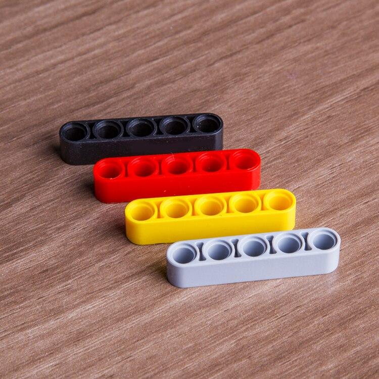 20 pçs/lote decool técnica liftarm 1x5 buraco compatível 32316 tijolos blocos brinquedos peças de técnica moc