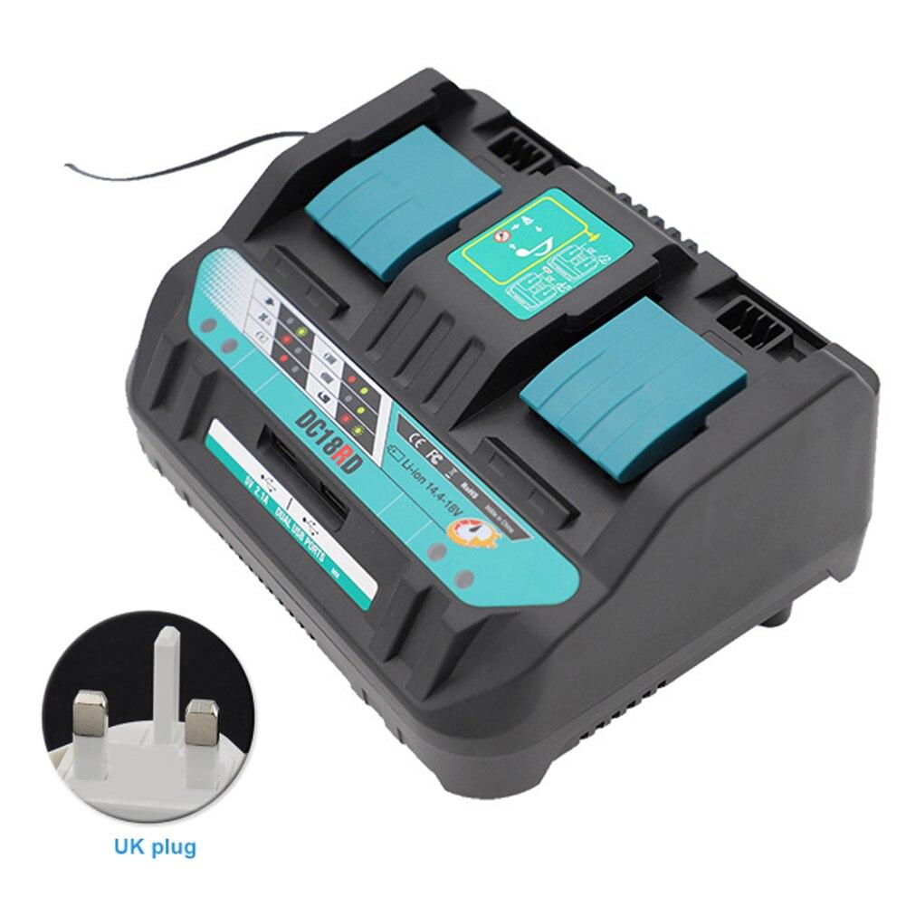 DC18RD Dual USB portátil inteligente piezas de repuesto 14,4 V 18V cargador de batería