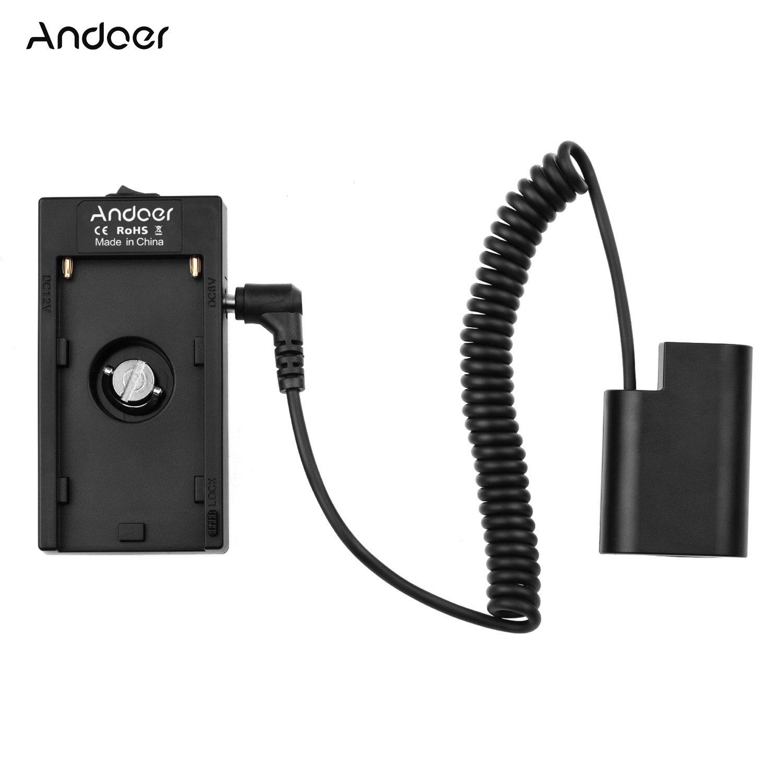 Andoer NP-F970 F750 soporte de placa de batería AdapterDMW-DCC8 acoplador de batería simulada para cámaras GH3/GH4/GH5/GH5S