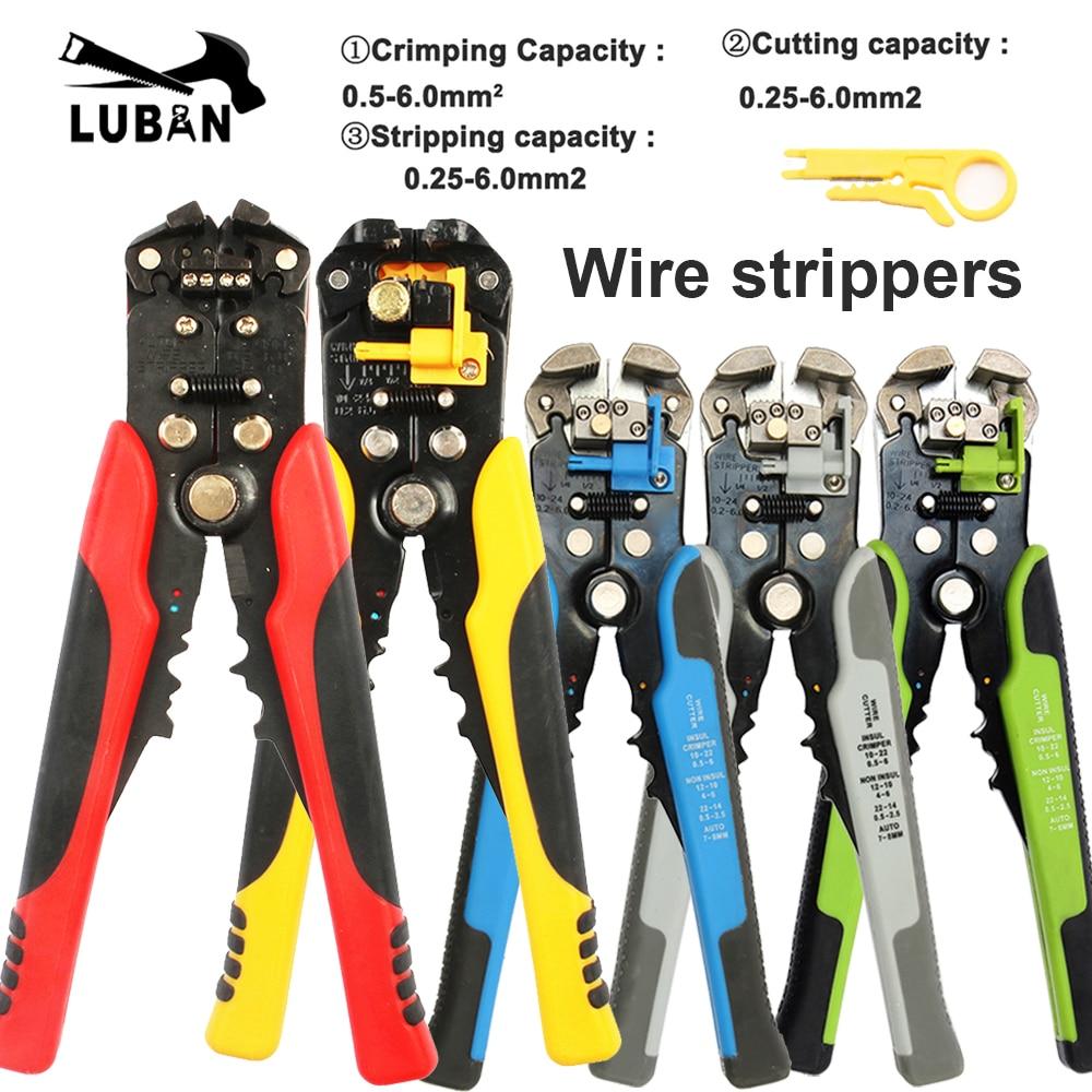 HS-D1 D4 D5 24-10 0.2-6.0 dénudeur de fil multifonctionnel automatique pince à dénuder câble dénudeurs de fil outils de sertissage coupe