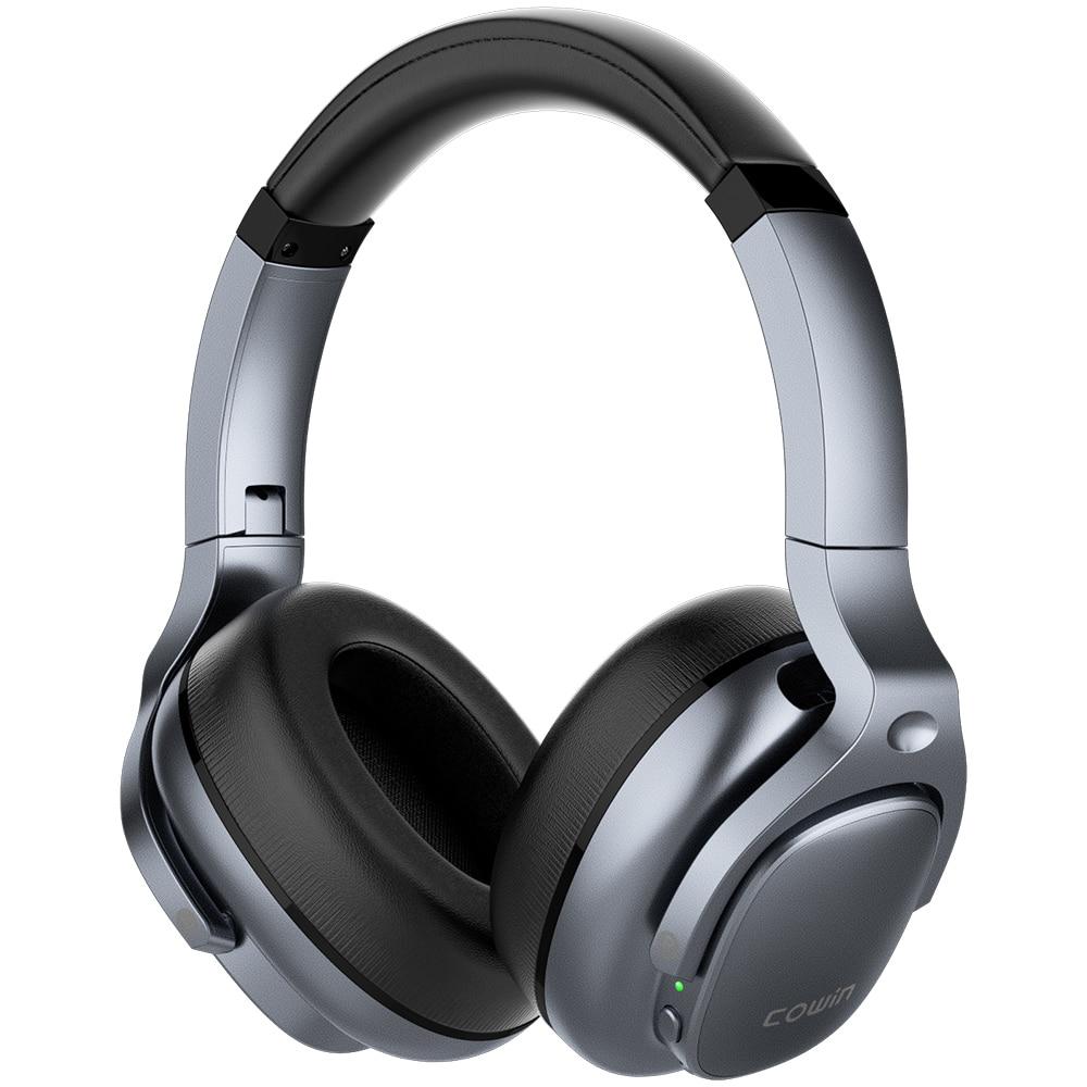 Cowin e9 active noise cancelling fones de ouvido bluetooth sem fio fone sobre a orelha com microfone aptx hd sadio heasets