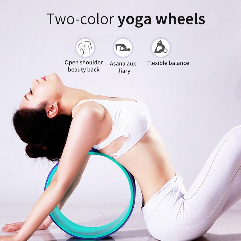 Yoga pilates círculo roda yoga musculação equipamentos de fitness yoga roda forma da cintura profissional pilates antiderrapante volta treinamento