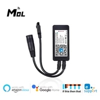 MOL eWeLink RVB LED Bande Controleur WiFi APPLICATION IR Commande Vocale A Distance par Alexa Google Home Controle Vocal