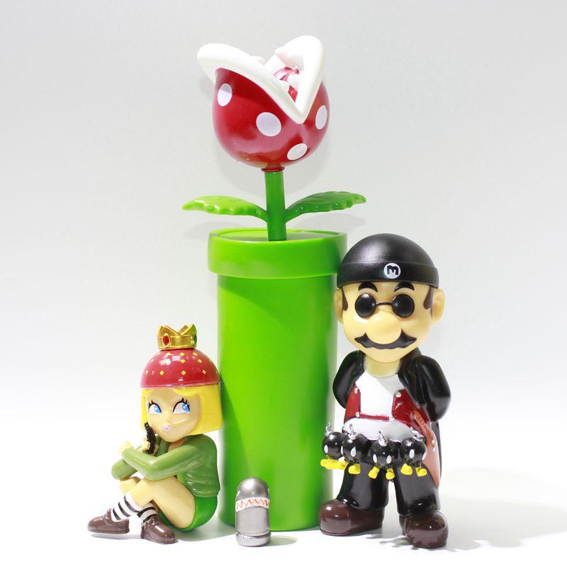 سوبر ماريو ليون-شخصية الحركة المهنية تأثيري ماريو لولي الأميرة البيرانا النبات رصاصة البدلة البلاستيكية لعبة نموذج الاطفال هدية