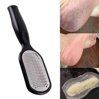 pedicure foot file callus remover stainless steel foot scraper portable rasp colossal foot grater scrubber pro for wetdry feet