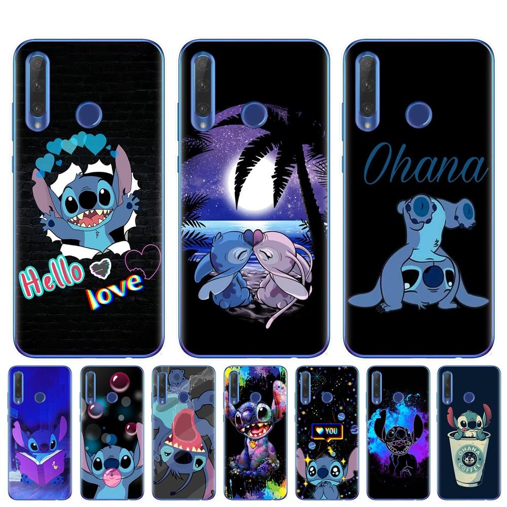 Cubierta de teléfono de TPU suave para Coque Huawei Honor 9 10 20 Lite 10i 8X 8C 9X Pro cubierta trasera Capa Fundas lindo Punto de dibujos animados bolsas