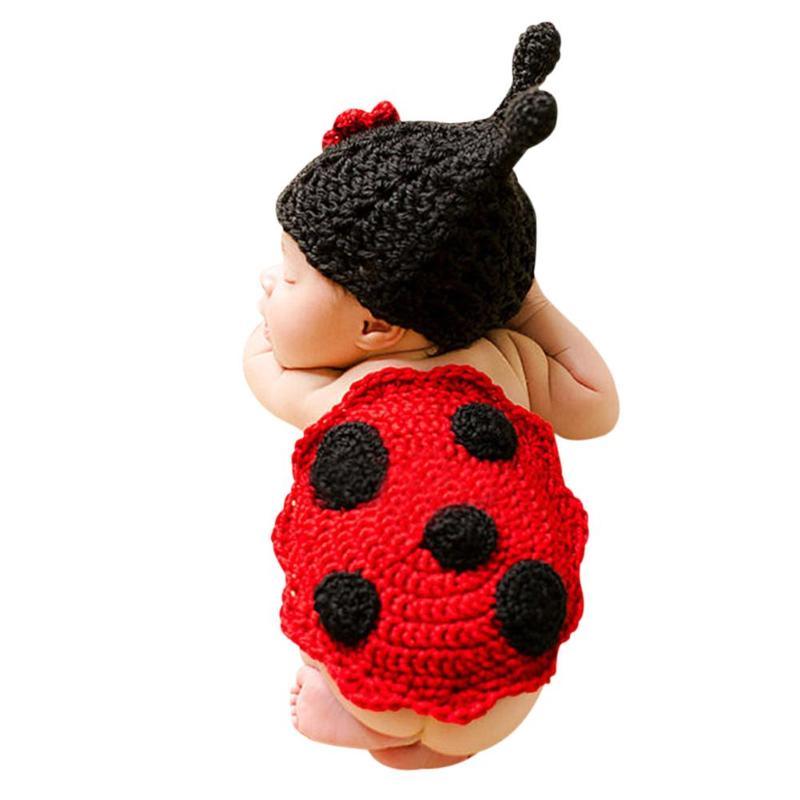 Hermoso para recién nacidos niños niñas ropa de fotografía flor insectos modelo capa + sombrero niños crecimiento grabador conjunto de ropa de Navidad