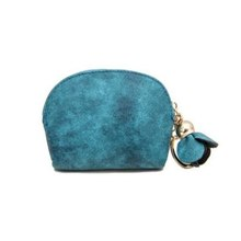 2020 Brand New Fashion Ladies PU Leather Mini Wallet Card Key Holder Zip Coin Purse Floral Pendant C
