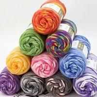 3pcs attachment lover cotton dyed flowers gradient hand knitted sweater crochet scarf coarse doll wool wholesale thread