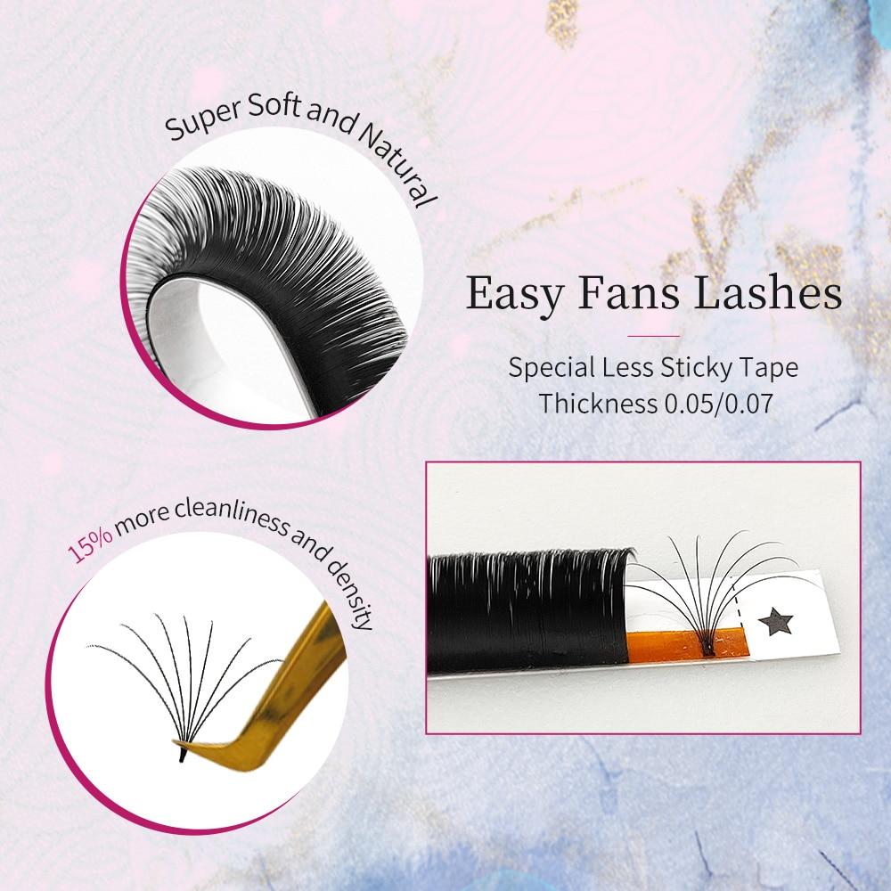 Abonnie 8-19mm Professional Induvideal Eyelashes Fans Fast Fanning Eyelash Extention Cashmere Easy F