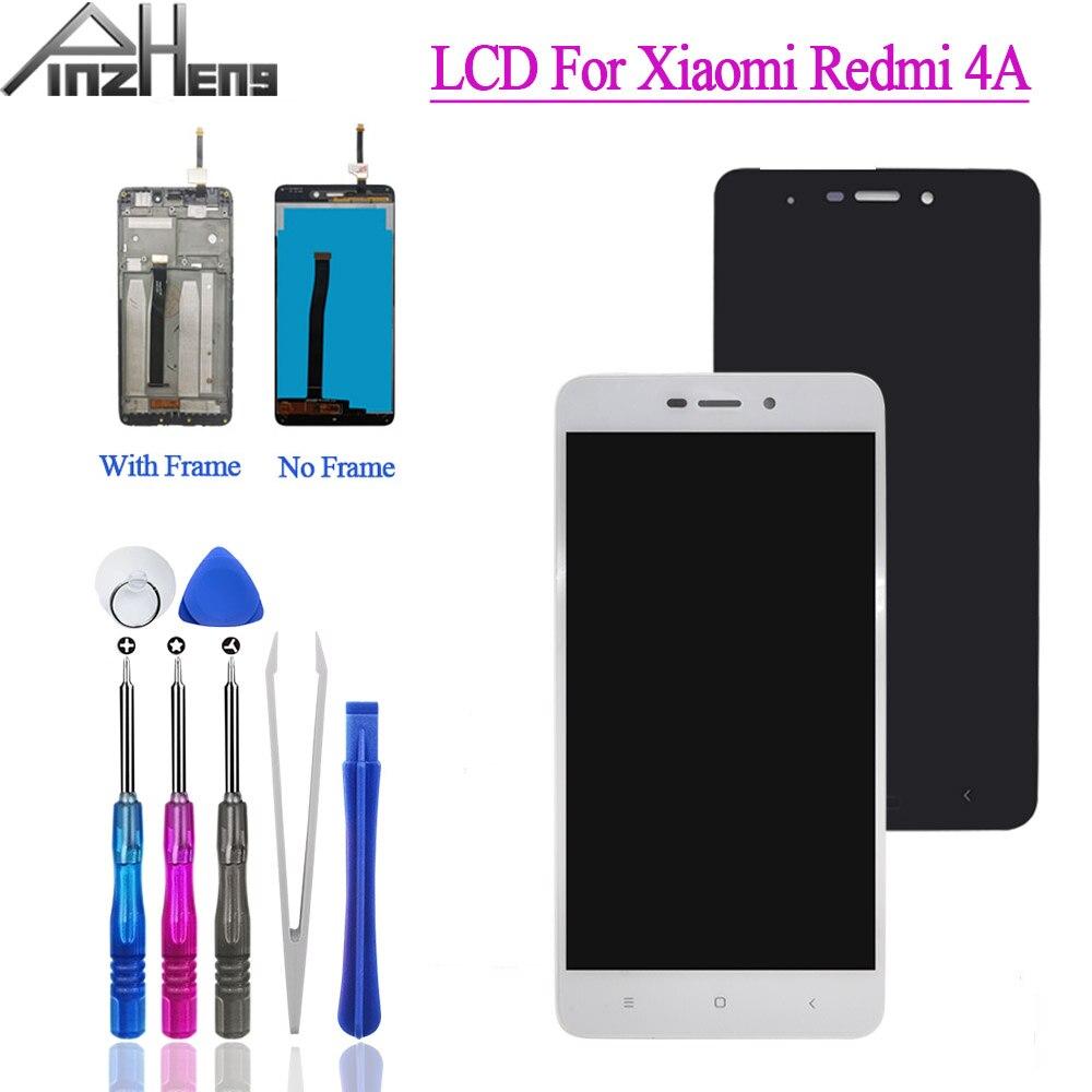 Pantalla LCD PINZHENG para Xiaomi Redmi 4A, pantalla Digitalizador de pantalla táctil de repuesto para Redmi 4A, pantalla LCD con marco