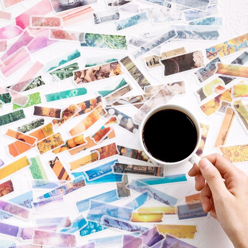 JIANWU 60 Teile/satz Reise Vintage Dekorative Washi Aufkleber DIY Scrapbooking nette aufkleber für journal schule liefert kawaii