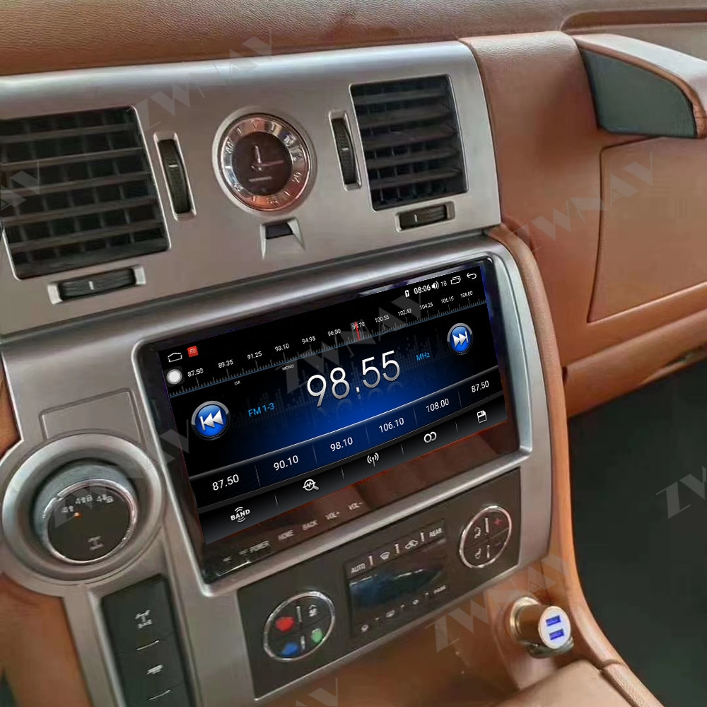 4 + 64 pantalla táctil Android 10,0 reproductor multimedia de coche GPS Audio Navi para HUMMER H2 2008 radio video estéreo unidad principal mapa gratis