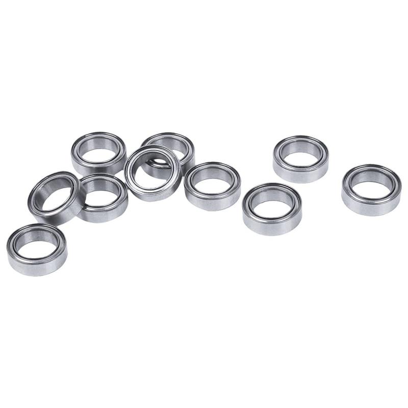 20 piezas en Miniatura de Metal sellado blindado métricas Rodamiento de bolas Radial modelo MR128-ZZ 8X12X3.5mm y MR106-ZZ 6X10X3mm