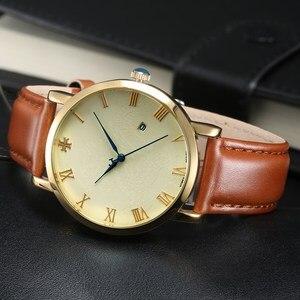 Clearance Men Business Fashion Calendar Classic Watch Male Luxury Top Brand Quartz Wristwatch Leather Clock Gold Time Teen Hour