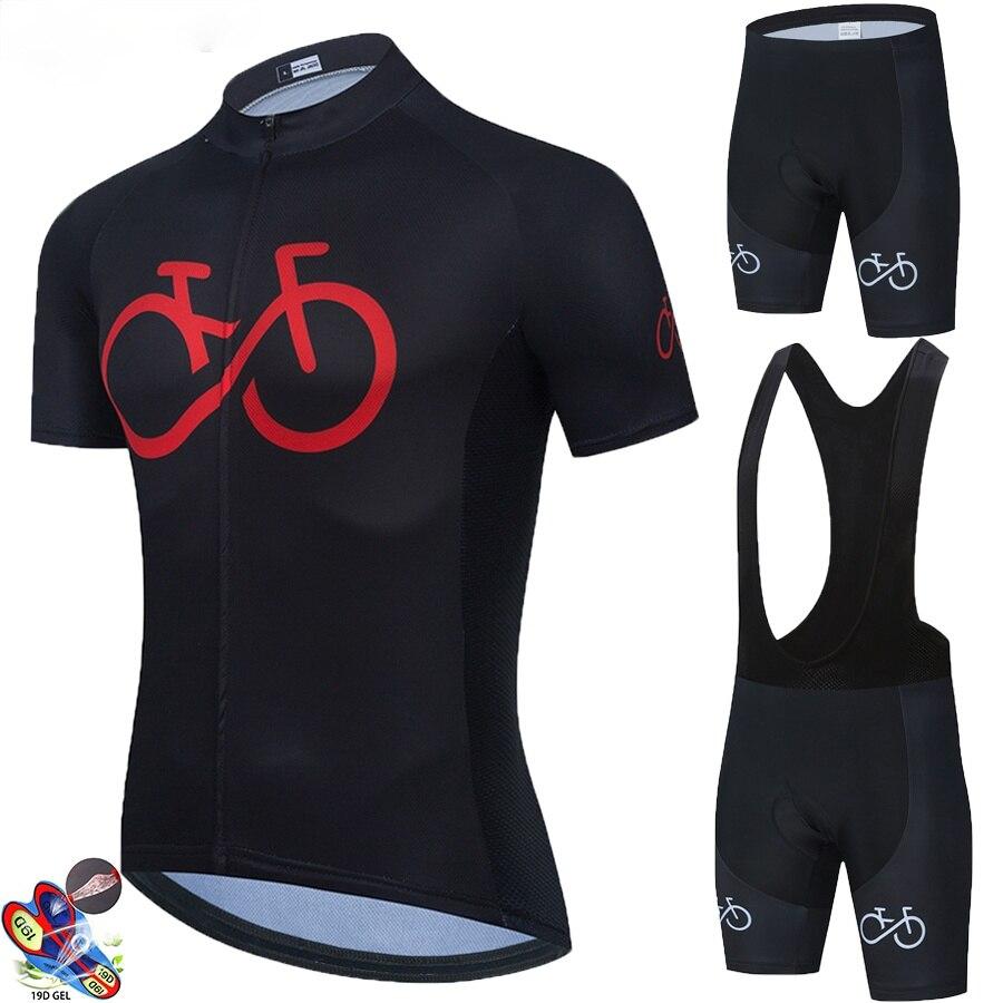 2021 Black Cycling Jersey 19D Pad Bib Shorts Bicycle Clothing Cycling Quick Dry Men Pro Cycling Maillot Ciclismo Hombre