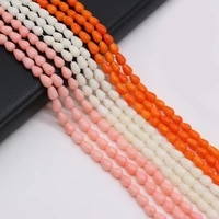 fashion straight hole drop shape beads high quality coral beaded for jewelry making diy necklace bracelet accessories 4x6mm