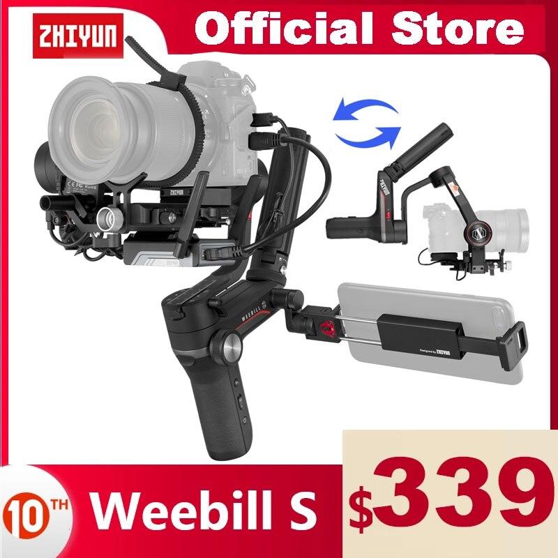ZHIYUN الرسمية Weebill S 3-محور Gimbal يده استقرار نقل صورة لكانون سوني الخ المرايا كاميرا OLED عرض