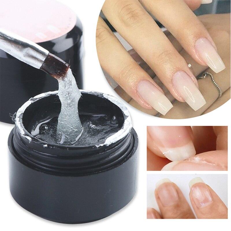 Capa Base de fibra de 5ml empapa de Gel UV de fibra de vidrio de larga duración brillante Reparación de uñas rotas manicura uñas arte Gel de reparación de uñas