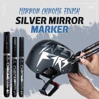 silver color liquid mirror chrome marker with 0 713mm nib mirror reflection sign pen soomth home party writing decorations