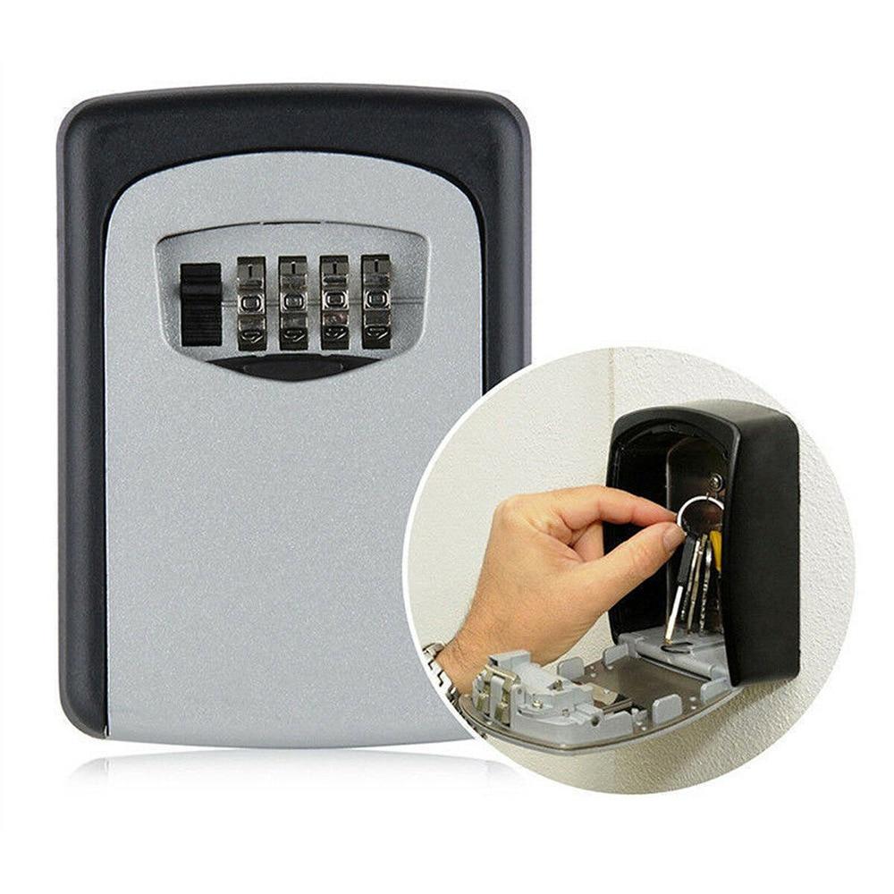 Wall-Mounted Password Key Box Anti-Theft Metal Password Lock Storage Box Home Outdoor Key Storage Box недорого