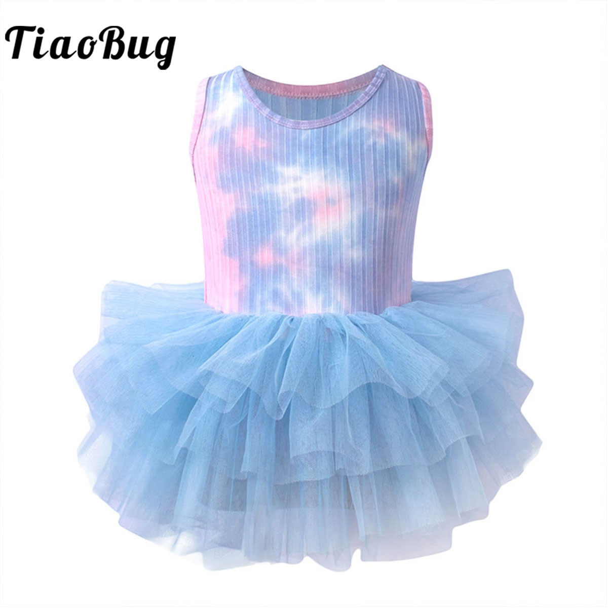 Ballerina Fairy Prom Party Costume Kids Flower Dress Girls Dance Wear Gymnastic Ballet Leotard Tutu