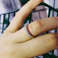 solid 2021 new design fashion 925 sterling silver unilateral ring half band ring for women engagement wedding ring band r4324a