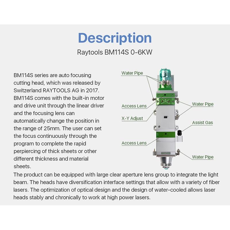 Raytool BM114S Autofocus Fiber Laser Cutting Head 6KW enlarge
