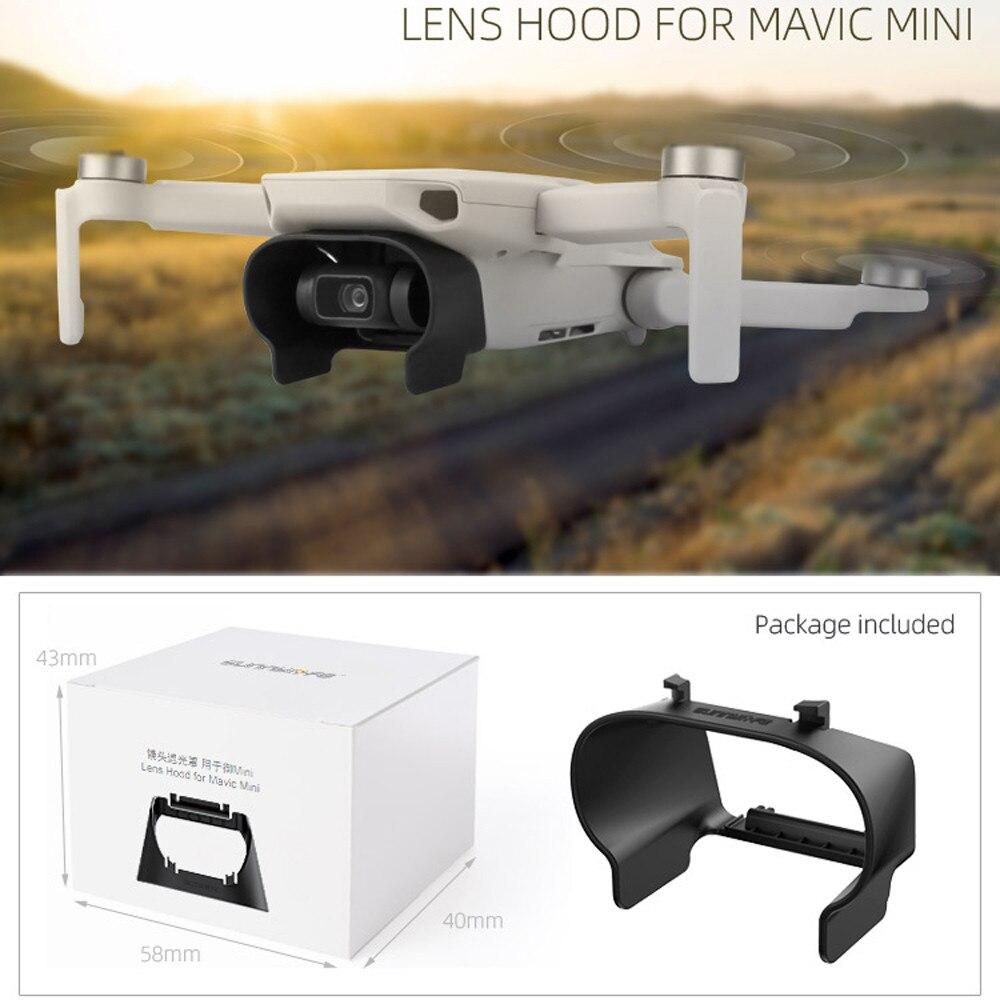 Para dji mavic mini capa de lente capa protetora anti-reflexo sol capa acessórios sun sombra lente capa compatível para dji mavic mini