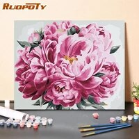 ruopoty diy paint by numbers flowers zero based for adult 40x50cm home decor paint by numbers big flowers kits
