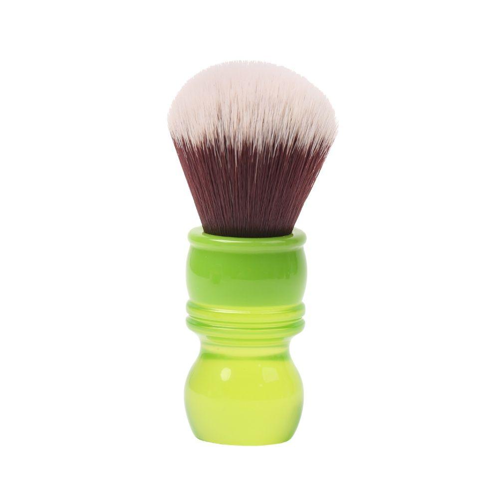 yaqi 24mm moka express synthetic hair shaving brush Yaqi 24mm Green Handle Mink Synthetic Hair Knot Wet Shaving Brush