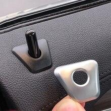 Para 18-19 BMW serie 5 525li530li 4 Uds. Tapa de bloqueo de puerta de fibra de carbono parche Interior modificado