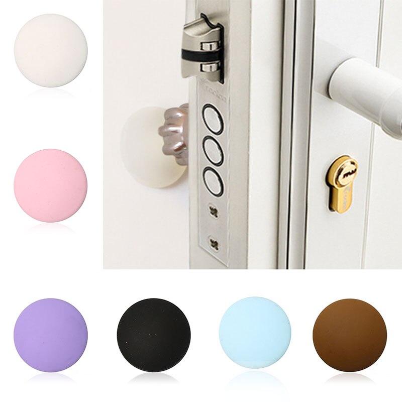 Rubber,Door Stopper Doorknob,Wall Protector,Shockproof,Crash Pad,Strong Gel,Stop Drop,Silicone,Door Handle,Home Decoration