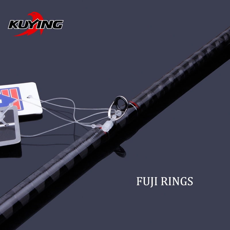KUYING Conqueror 1.95m 1.98m 2m 2.05m Fast Action Carbon Lure Casting Spinning Fishing Rod Fish Pole BASS Master Hard Soft enlarge