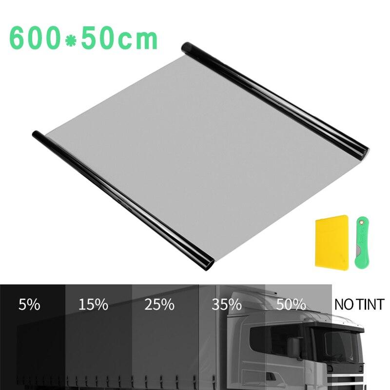 600x50cm tinte de Ventanilla de coche rollo de película de tintado vidrio de ventana de casa de verano Solar UV Protector pegatina Anti-explosión láminas de ventana