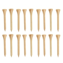 100Pcs 3-1/4 inch Golf Tees White Solid Wooden Golf Tees Supplies for Golfer