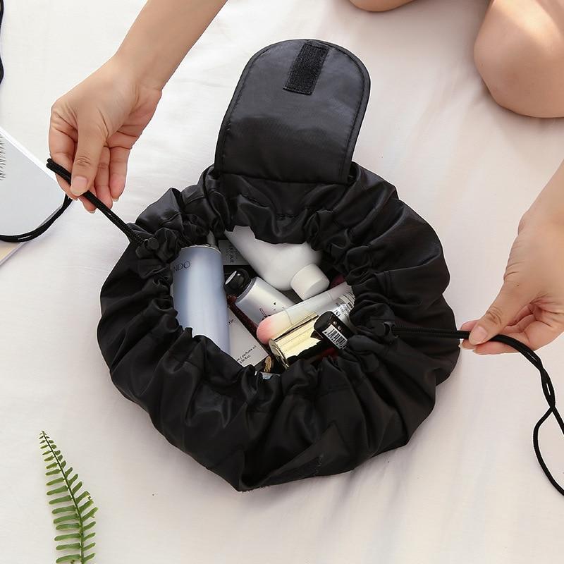 Women Drawstring Cosmetic Bag Travel Storage Makeup Bag Organizer Female Make Up Pouch Portable Wate