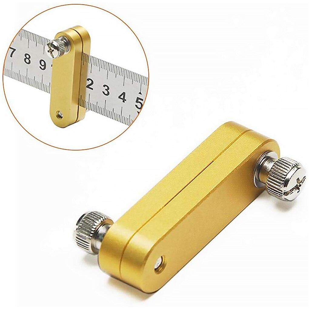 Régua de aço paralela bloco de posicionamento carpintaria governante posicionador localizador medição localização ferramenta