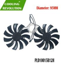 PLD10015B12H 12V 0.55A 95mm GTX1080 1070 TI ACX 3.0 pour EVGA GeForce GTX 1080 1070 1070Ti FTW2 GAMING ICX carte graphique refroidissement