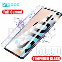 500D Voll Curved Schutz Glas auf Für Samsung Galaxy Note 8 9 10 Pro S10E S10 S9 S8 Plus Bildschirm protector Gehärtetem Glas Film