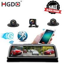 """HGDO جديد 2019 ADAS 4 قناة جهاز تسجيل فيديو رقمي للسيارات كاميرا مسجل فيديو مرآة 4G 10 """"وسائل الإعلام مرآة الرؤية الخلفية 4 الأساسية أندرويد داش كام FHD 1080P"""