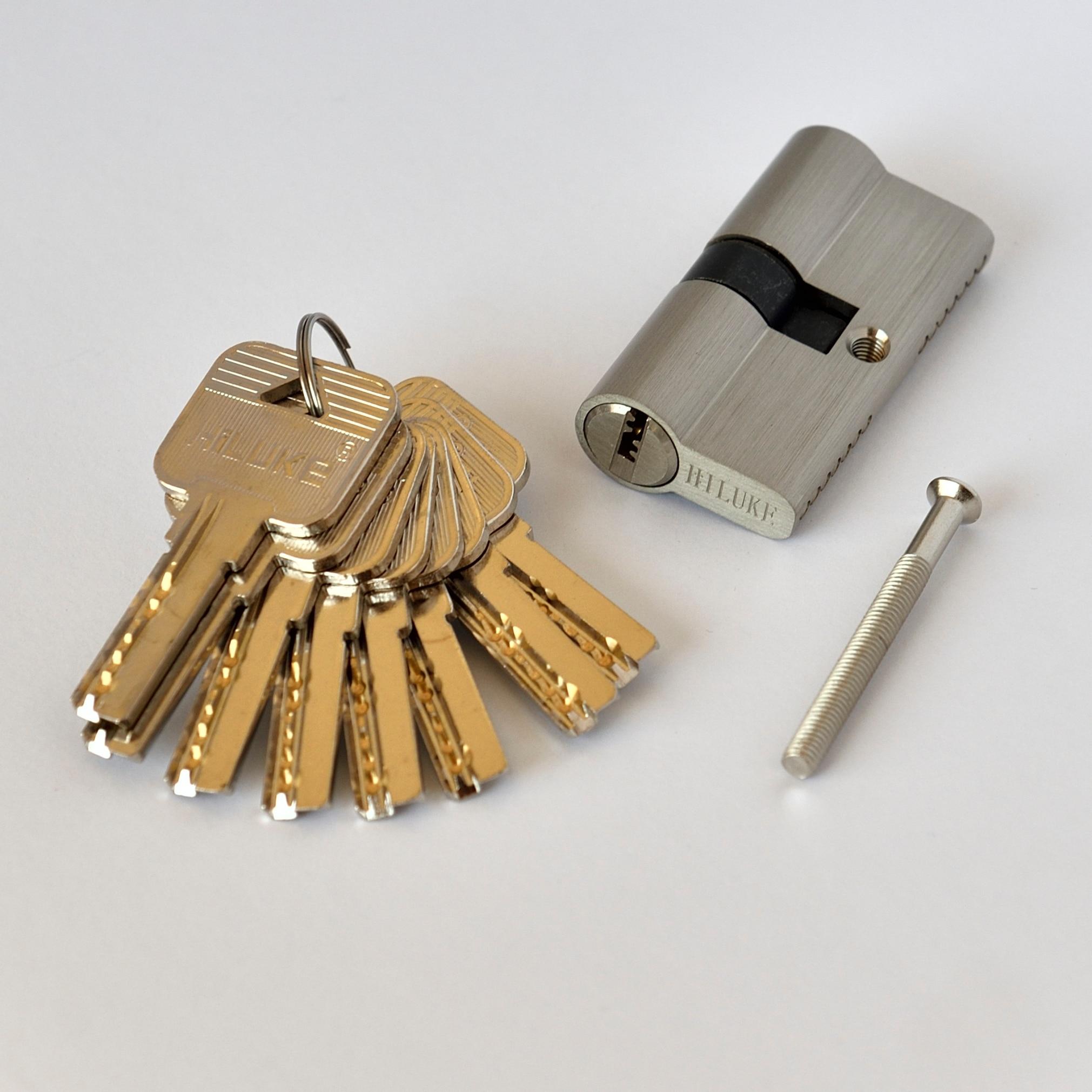 قفل أمان للأبواب ، أسطوانة نحاسية قياسية أوروبية ، 8 مفاتيح ، 60 مللي متر ، C60