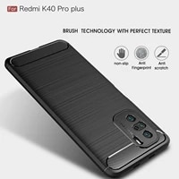 luxuriy phone case for xiaomi redmi k40 pro plus protection fashion business silicone ultra thin carbon fiber tpu back cover