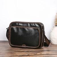 bolsos hombre 2021 new luxury designer crossbody bag mens bags casual leather small business shoulder bag zipper ipad sling bag
