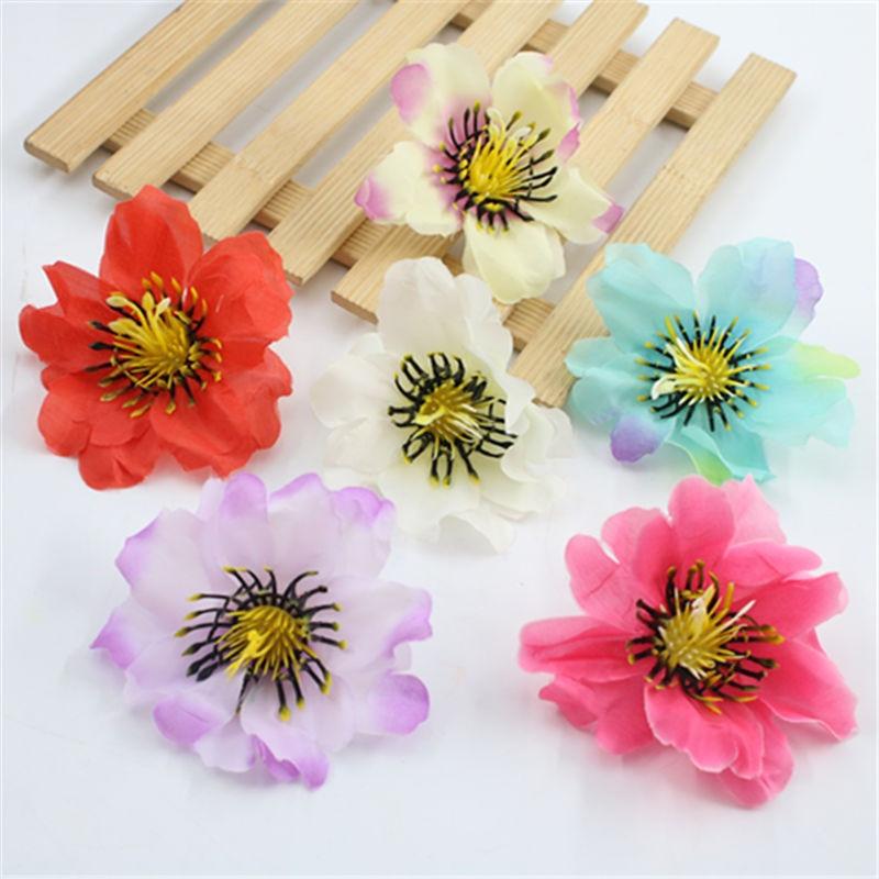 1 piezas 7cm flores artificiales Flor de melocotón simulación flor para la decoración de la boda flores falsas decoración del ho