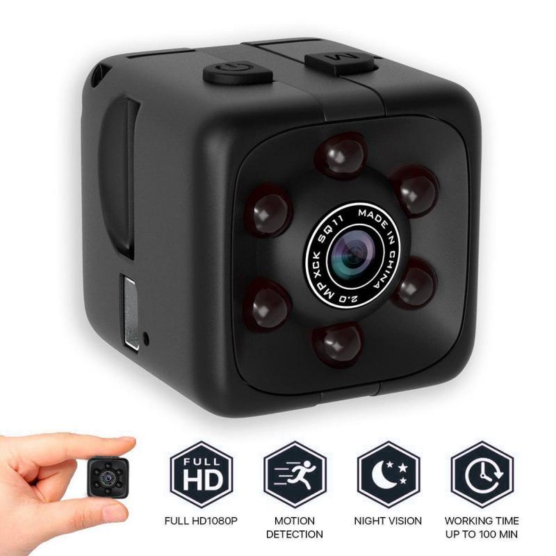 HD 1080P Mini Camera WIFI Camera SQ11 Night Vision Waterproof Shell Portable Cube Camera Recorder Camcorder