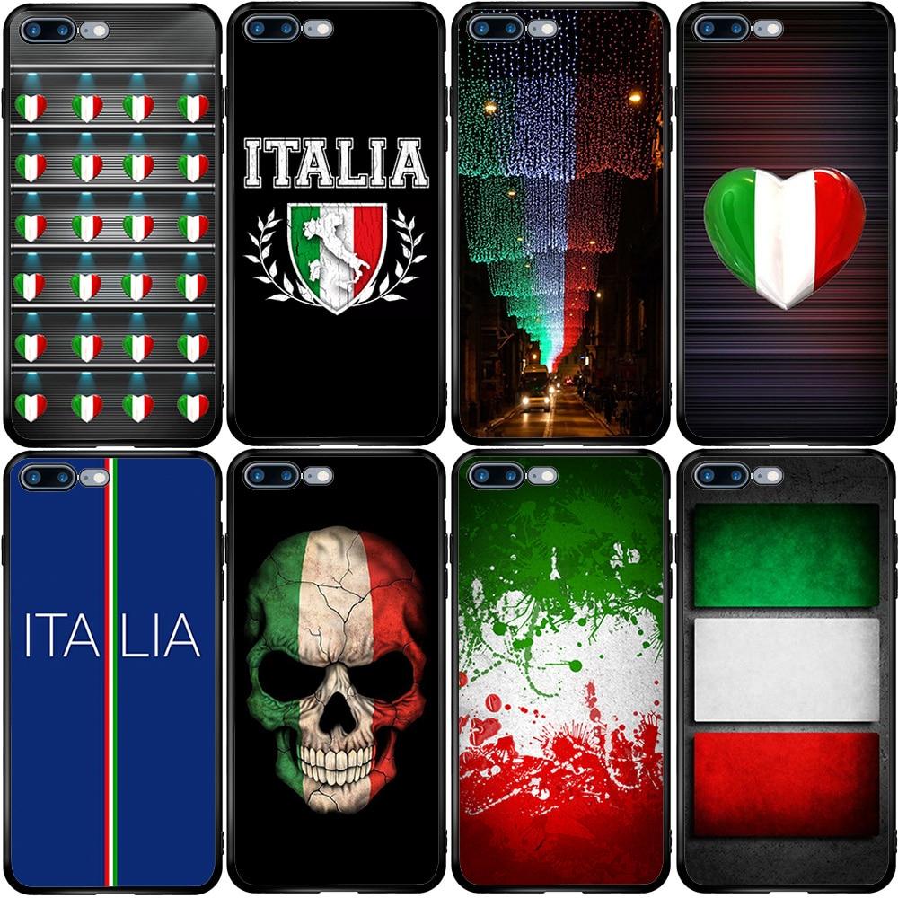 Bandera de Italia es águila mapa caso de la cubierta para el iPhone 5 5S SE 6 6S 7 8 Plus XR X XS X 11 Pro Max Oneplus 3 T 5T 6T 7
