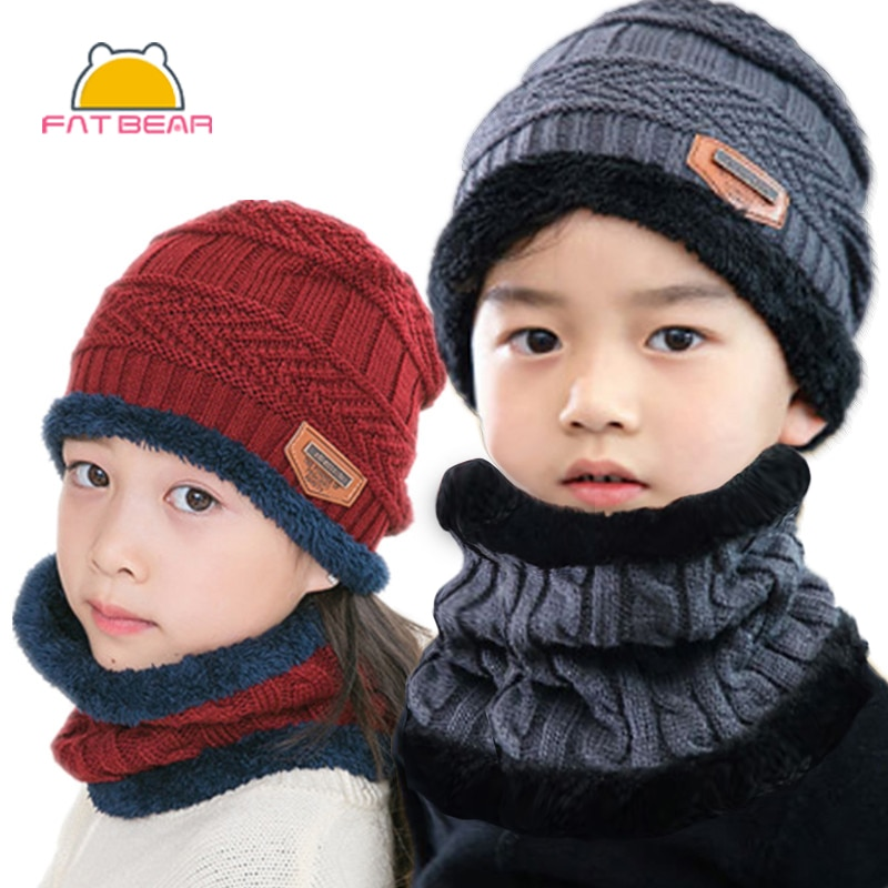 new winter baby boys girls turban hats knotted beanies caps indian children baby hat infant gift accessories Knitted Baby Hats Scarf Turban Beanie Cotton Warm Wool Fur Caps Soft Hat For Childern Girls Boys Elastic Beanies Autumn Winter